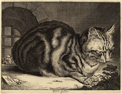 Cornelis Visscher Dutch, 1629 - 1662, The Large Cat Art Print by Quint Lox
