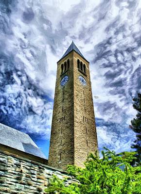 Photograph - Cornell Clock Tower  by Russ Considine