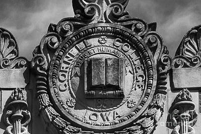 Diploma Photograph - Cornell College Seal by University Icons