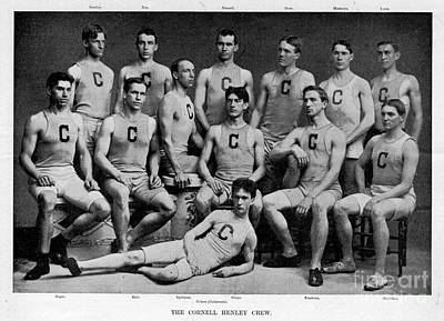 Photograph - Cornell Henley Crew 1895 by Celestial Images