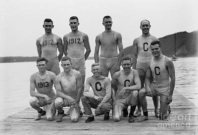 Photograph - Cornell Varsity Rowing Team 1911 by Celestial Images