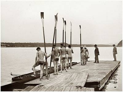 Photograph - Cornell Varsity Rowing Team by Celestial Images