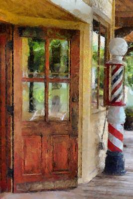 For Salons Painting - Corner Barbershop  by L Wright