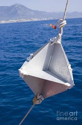 Corner-cube Radar Reflector On Boat Art Print by Mark Williamson