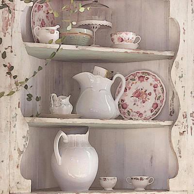 Corner Cupboard Art Print by Art Block Collections
