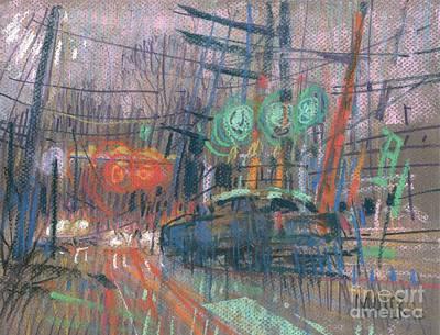 Traffic Light Painting - Corner Lights by Donald Maier