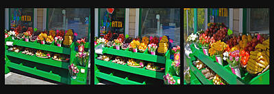 Photograph - Corner Market Fruit Bins by SC Heffner