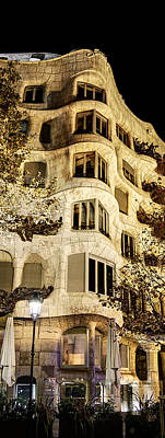 Photograph - Corner Of La Pedrera At Night - Gaudi by Weston Westmoreland