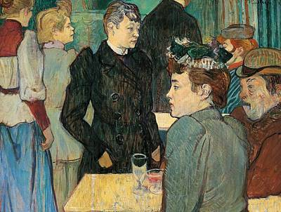 Table Wine Painting - Corner Of Moulin De La Galette by Henri de Toulouse Lautrec