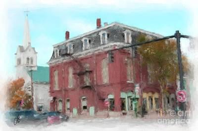 Main Street Corners Painting - Corner Of Pleasant And Maine 1065 20141003 by Julie Knapp