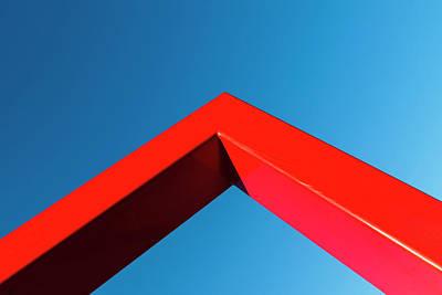 Ingo Art Wall Art - Photograph - Corner Of Red Metal Frame by Ingo Jezierski