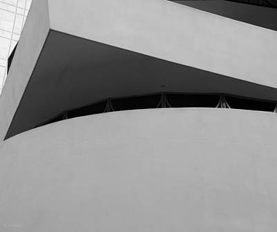 Photograph - Corner Of The Guggenheim In Black And White by Rob Hans