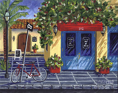 Old Store Front Painting - Corner Store by Val Miller