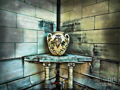 Photograph - Corner Vase by Joan  Minchak