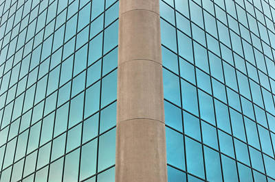 Minimal Photograph - Corner View Of An Office Building.  by Rob Huntley