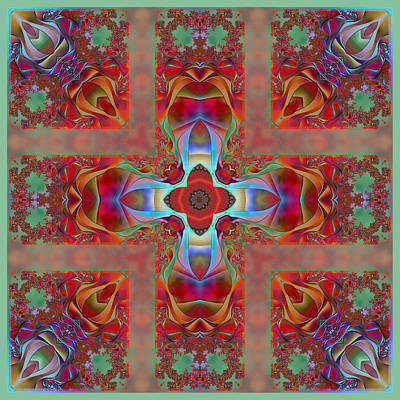 Digital Art - Cornered Silk  by Wendy J St Christopher