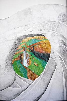 Cornered Stones Art Print by A  Robert Malcom