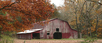 Photograph - Cornersville Barn Panorama by Robert Camp