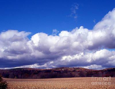 Cornfield And Clouds Original