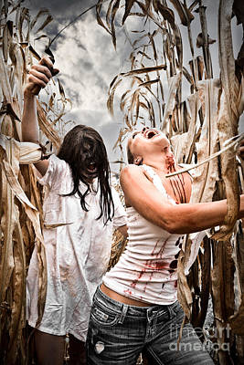 Sexy Indian Girl Photograph - Cornfield Horror by Jt PhotoDesign