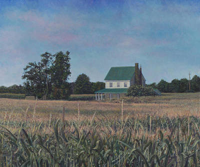 Painting - Cornfield Off Mt. Air Rd. by David P Zippi
