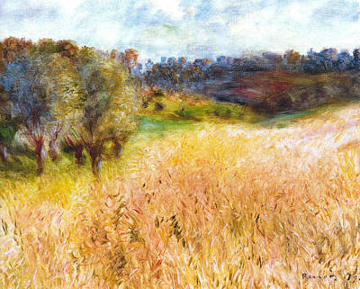 Digital Art - Cornfield by Pierre-Auguste Renoir