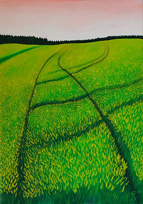 Fruehling Painting - Cornfield by Sven Fischer