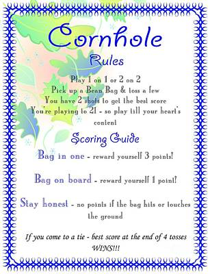 Digital Art - Cornhole Rules  by Nancy Patterson