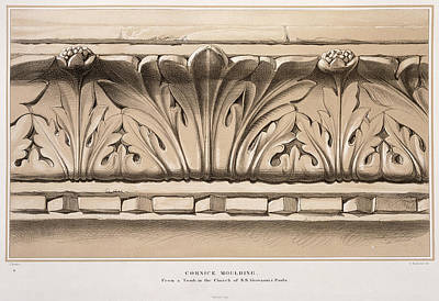 Cornice Moulding, From A Tomb Art Print by John Ruskin