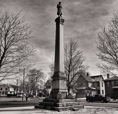 Photograph - Corning Civil War Monument by Joshua House