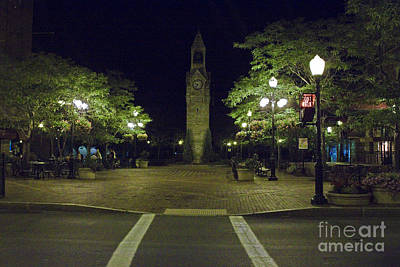Art Print featuring the photograph Corning Clock Tower by Tom Doud