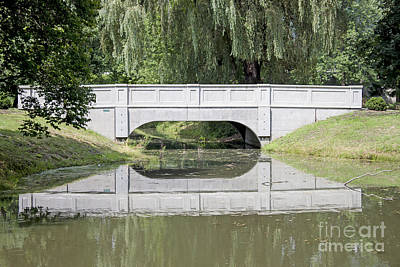 Photograph - Corning Ny Denison Park Bridge by Tom Doud