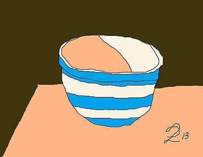 Cornish Bowl Art Print by Anita Dale Livaditis