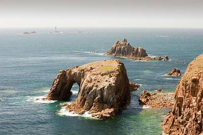 Sea Arch Photograph - Cornish Coastal Scenery At Lands End by Ashley Cooper