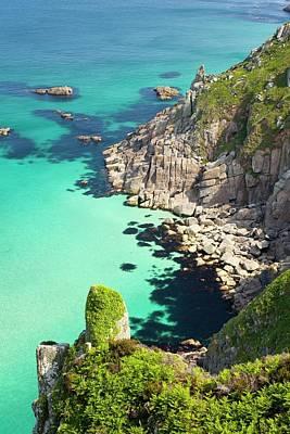 Cornish Coastal Scenery Near Pendeen Art Print by Ashley Cooper