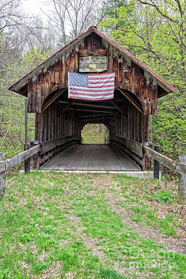 Photograph - Cornish Covered Bridge by Edward Fielding