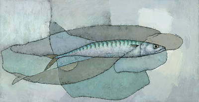 Painting - Cornish Mackerel by Steve Mitchell