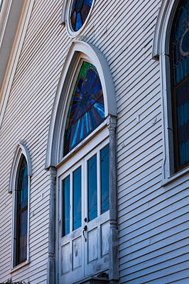 Photograph - Cornish Memorial Church Doorway by Ed Gleichman