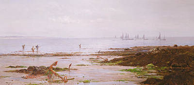 Cornish Shrimpers Art Print by Gustave de Breanski