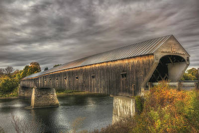 Photograph - Cornish Windsor Covered Bridge 2 by Joann Vitali