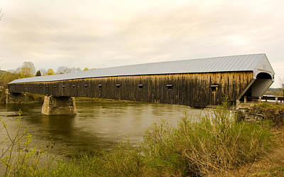 Photograph - Cornish - Windsor Covered Bridge by Betty  Pauwels