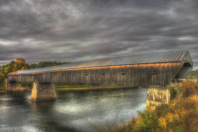 Photograph - Cornish Windsor Covered Bridge by Joann Vitali