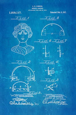 Unique Unusual Gifts Photograph - Cornish Wrinkle Remover Patent Art 1917 Blueprint by Ian Monk
