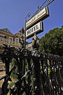Photograph - Cornstalk Fence Hotel by Andy Crawford
