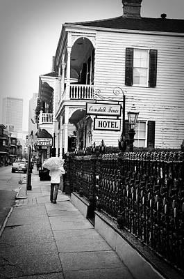 Black And White Photograph - Cornstalk Fence Hotel by Todd Hartzo