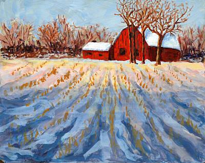 Cornstalks Painting - Cornstalks by Edy Ottesen