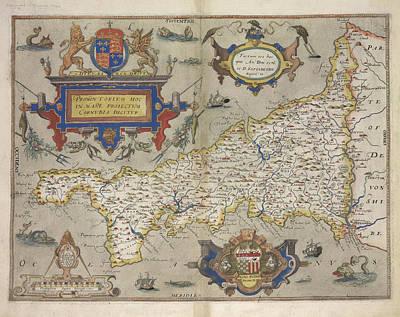 Cartography Photograph - Cornwall by British Library