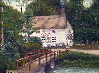 Cornwall Cottage Art Print by Diane Daigle