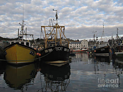 Cornwall Mevagissey Harbor Print by Kiril Stanchev