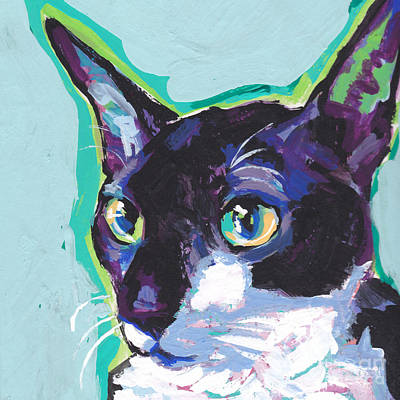 Cornish Wall Art - Painting - Corny Kitty by Lea S